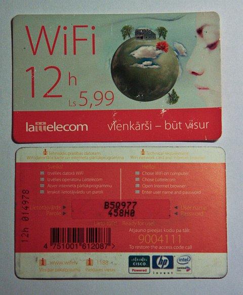 Bezmaksas WiFi kods